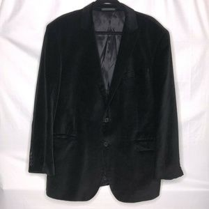Kenneth Cole NY Velvet Slim Fit Solid Sport Coat
